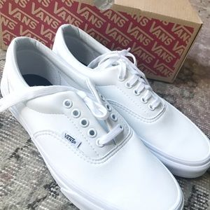e27b62f4afa Vans Shoes | New Classic Tumble Era In White Leather | Poshmark